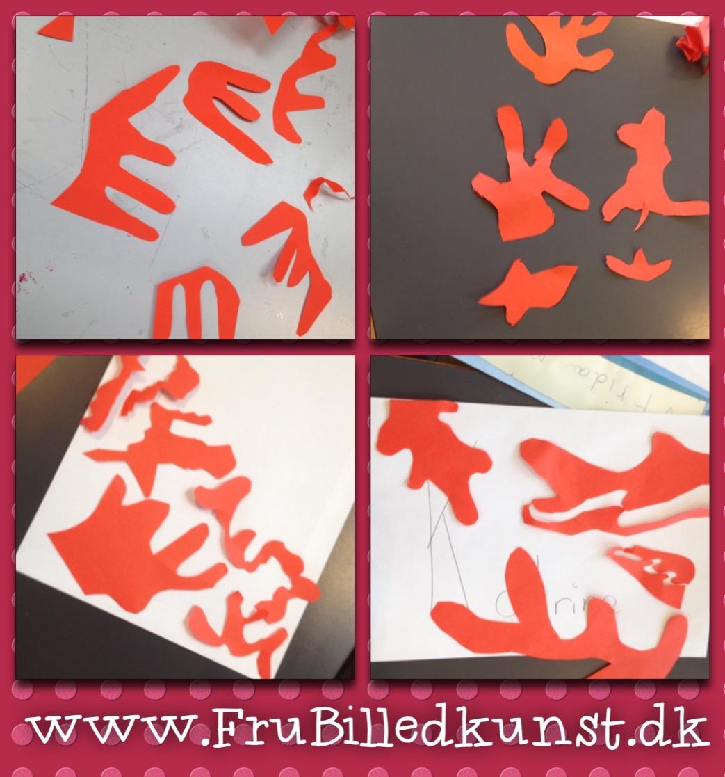 www.FruBilledkunst.dk - Matisse paper cut art lesson