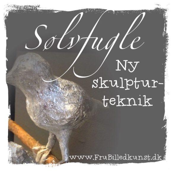 Sølvfugle - skulpturprojekt i 5.klasse - www.FruBilledkunst.dk