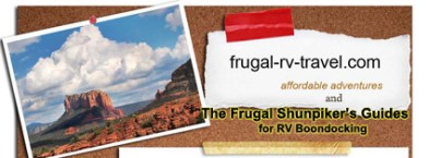 Full size banner Frugal Shunpiker's RV Boondocking Guides