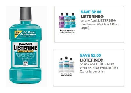 New Printable Coupons Save On Listerine Mouthwash 99