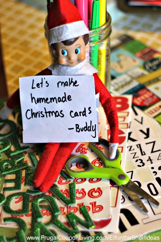 Elf On The Shelf Ideas Elf Makes Christmas Cards