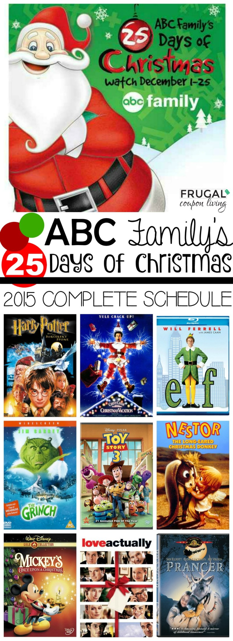 abc family 25 days of christmas 2017 schedule