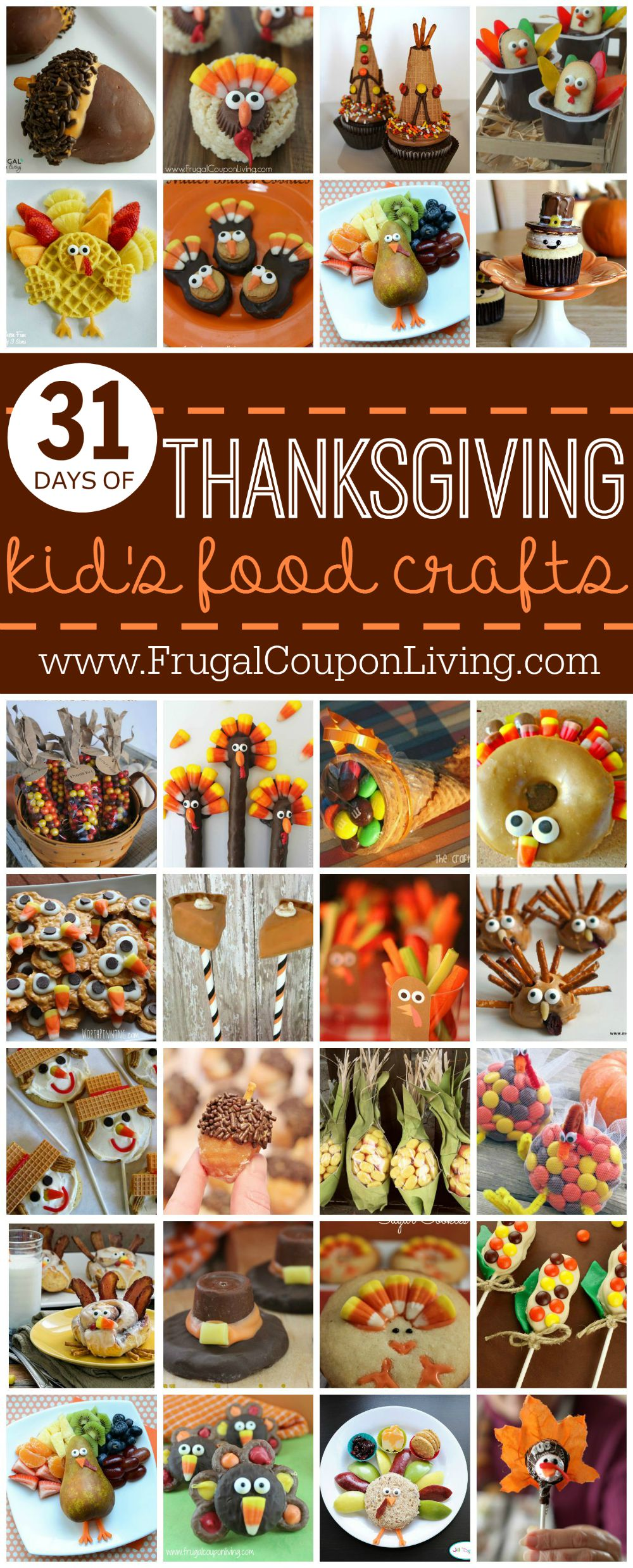 Thanksgiving Kids Food Crafts on Frugal Coupon Living