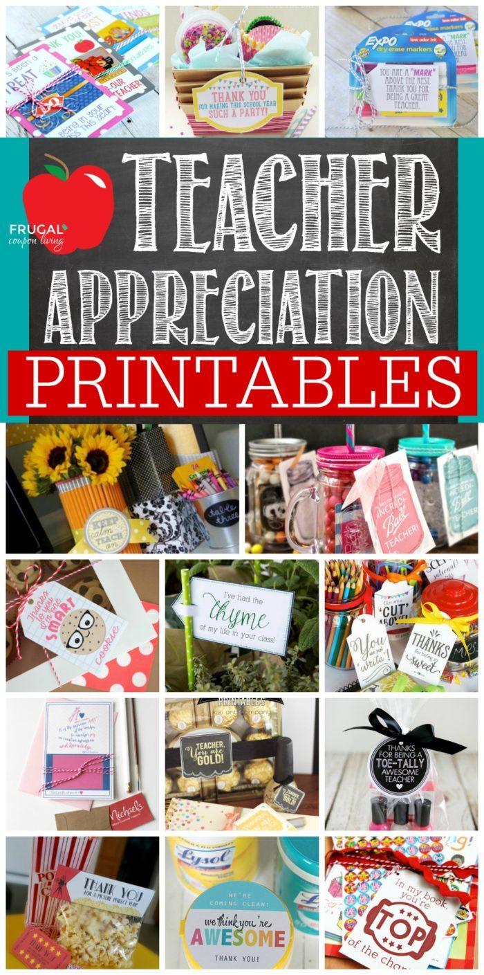 Teacher Appreciation Printables Ways To Show Your