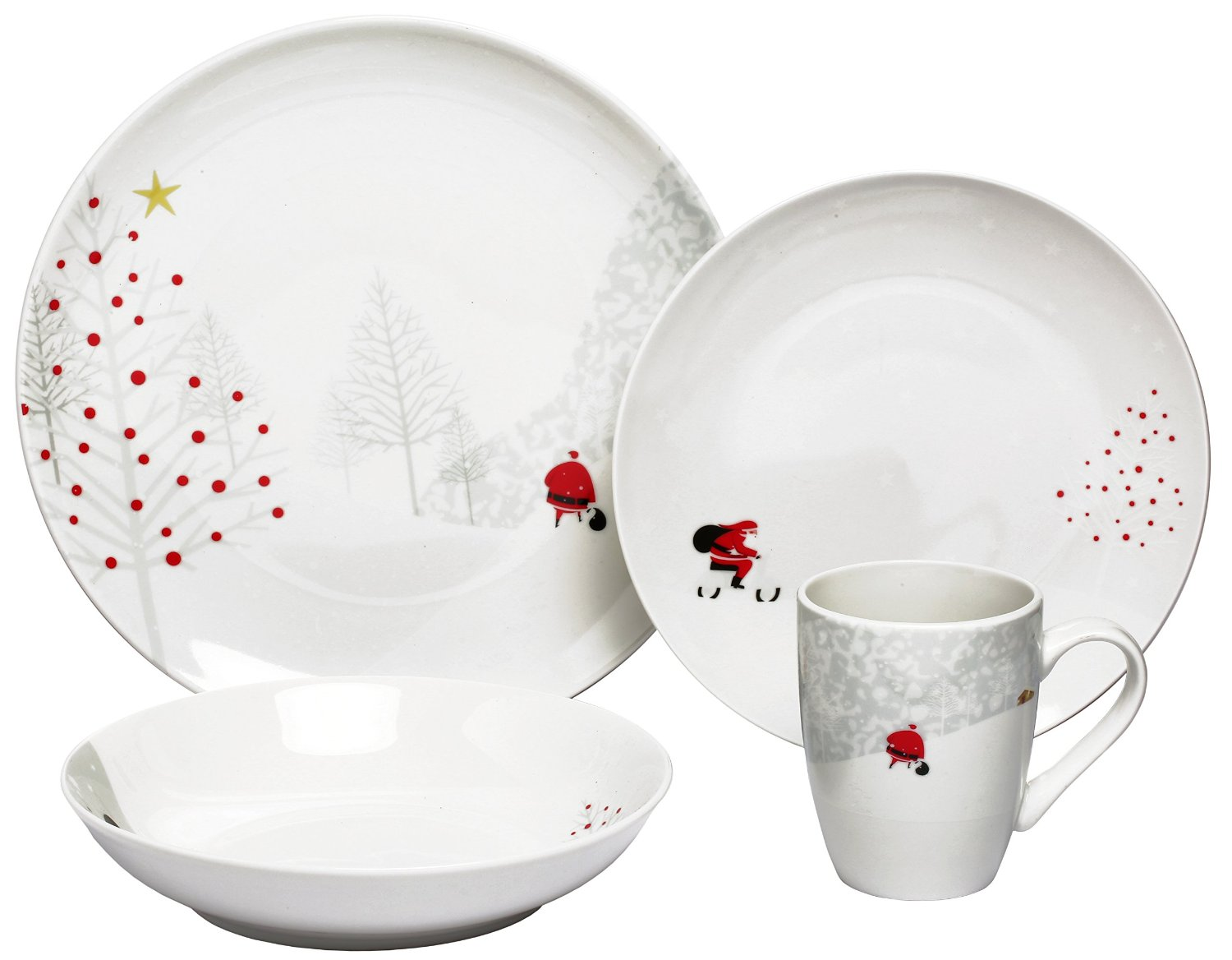 Christmas In July 16 Piece Santa Dinnerware Set Only 37