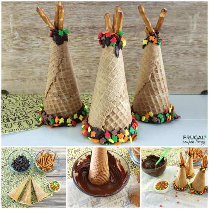 Fall Ice Cream Cone Teepees Kids Food Craft | Frugal Coupon Living