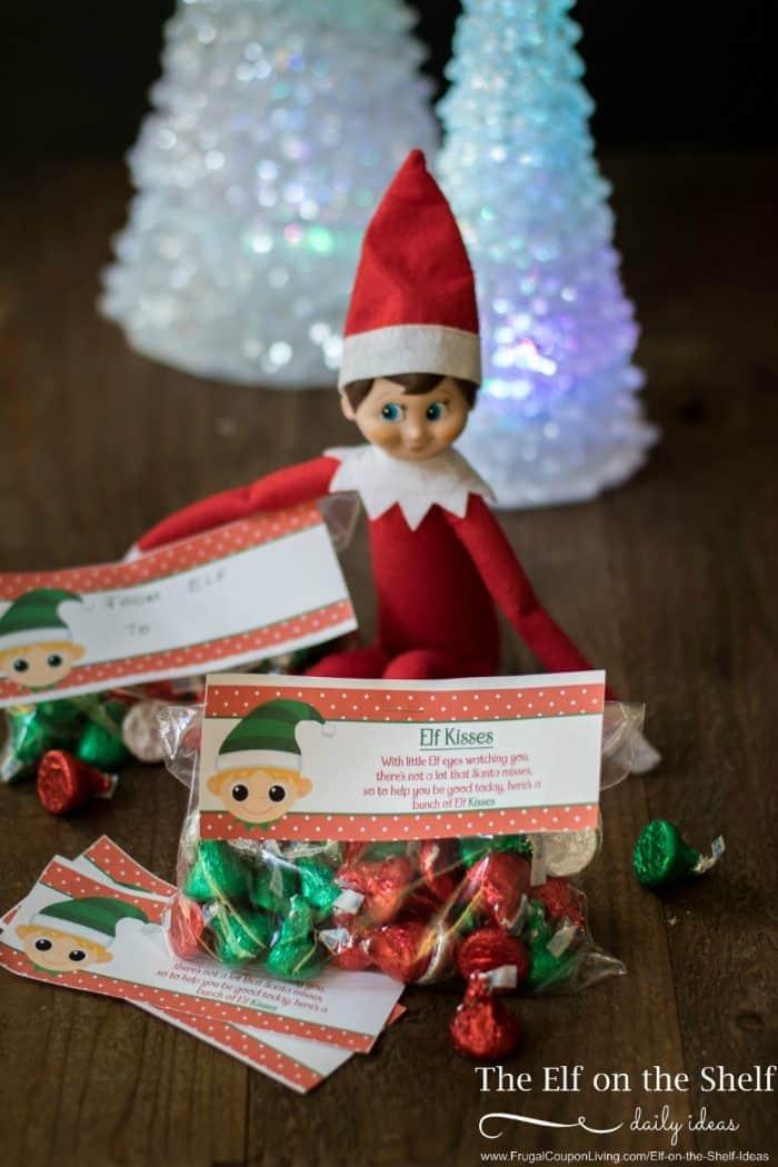 Elf On The Shelf Ideas Elf Kisses Printable Bag Topper