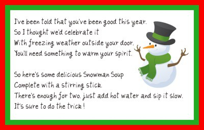 image about Free Printable Snowman Soup Labels called Snowman Soup Template. angee s eventions chasin absent the