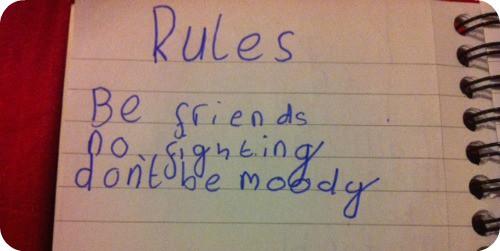 Club rules….