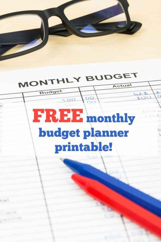 FREE monthly budget planner printable!