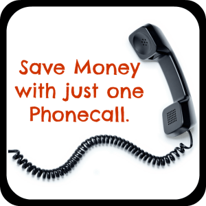 save money with one phone call