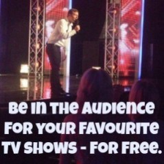 be in the audience for your favourite tv shows