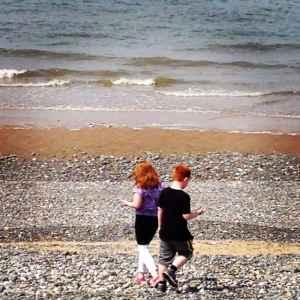 10. Summer walks on the beach.