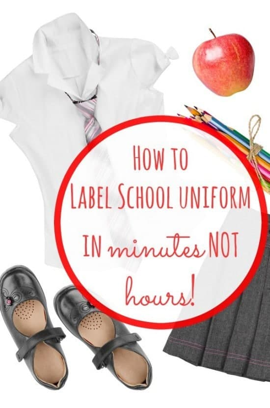 How to label school uniform in minutes NOT hours.  One simple trick will save you so much time that you won't believe how much time you used to spend doing this every year!