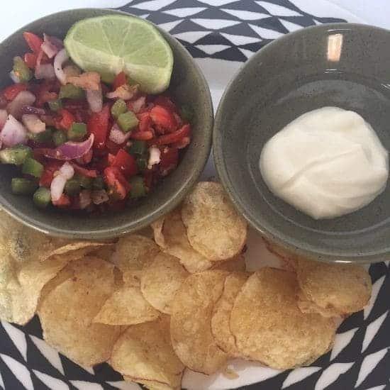 salsa and crisps