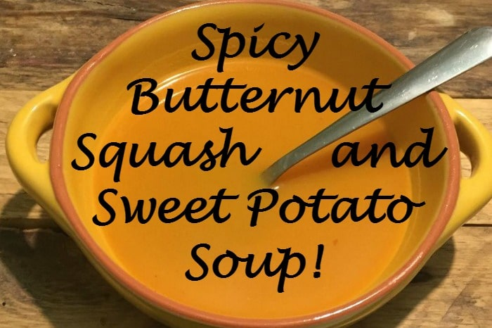 Spicy Butternut Squash and Sweet Potato Soup {Healthy, Delicious and great for Slimming World}….