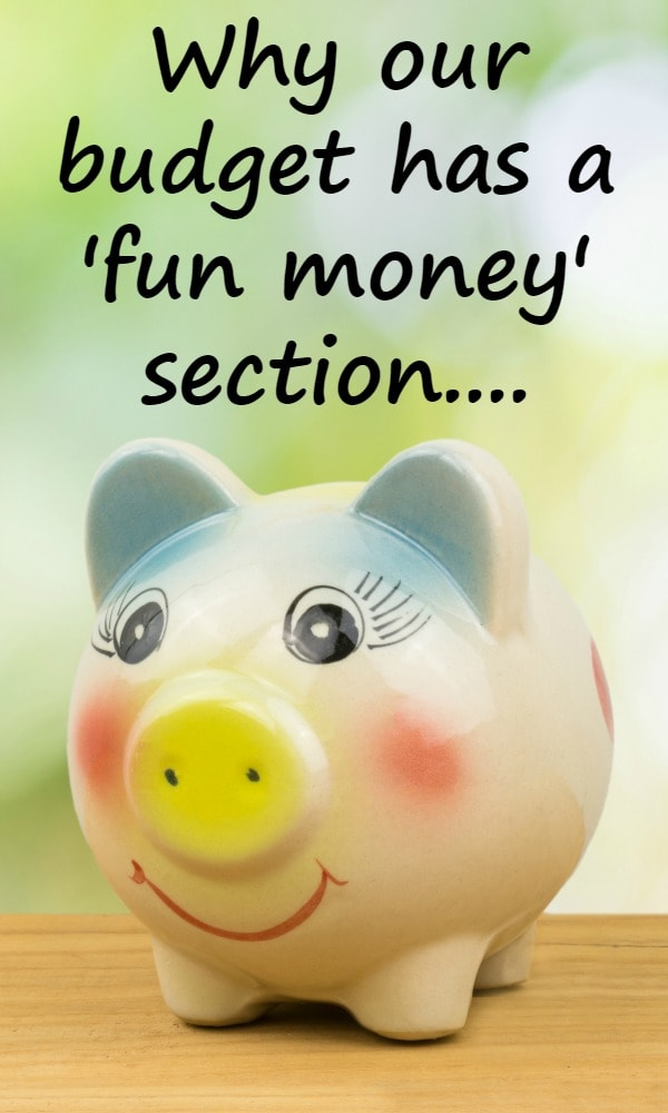 Why our budget has a 'fun money' section....