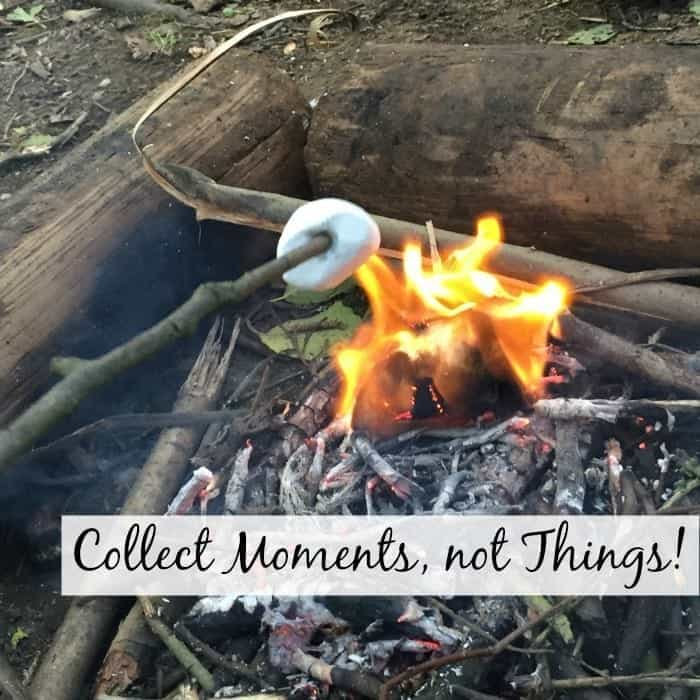 Collect moment, not things
