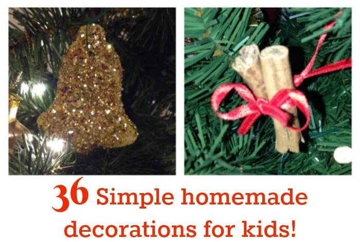 36 Simple homemade ornaments for kids….