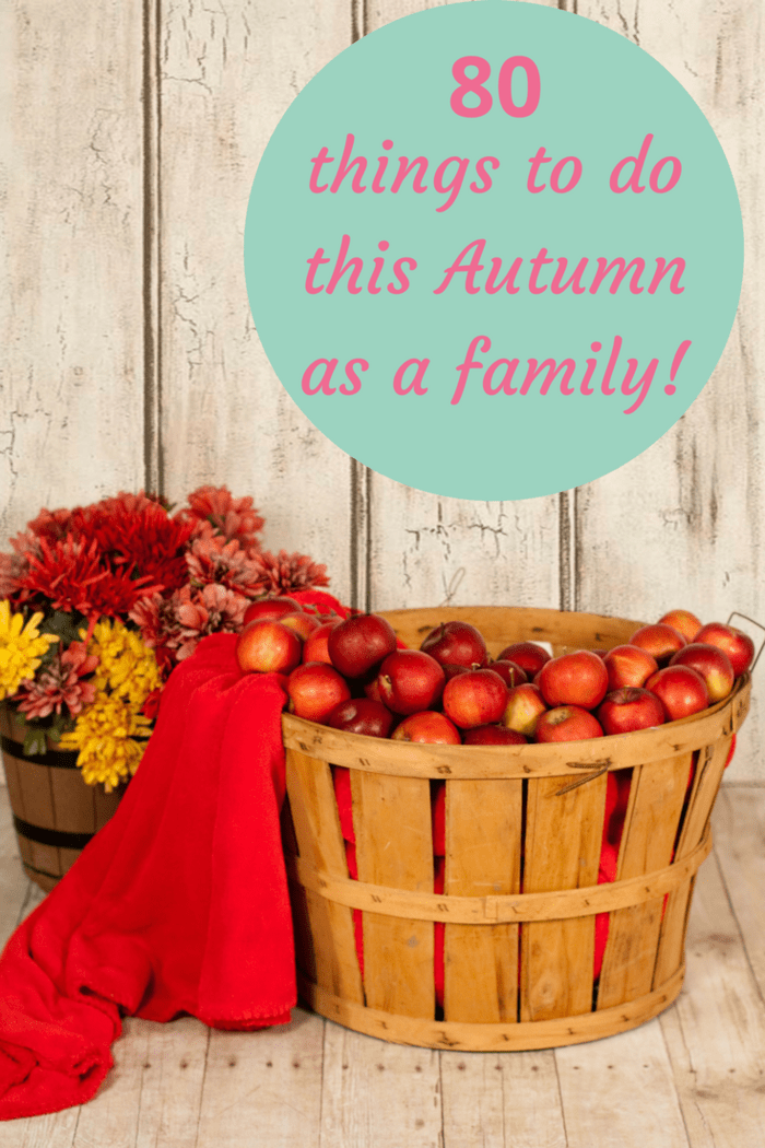 80 things to do this Autumn as a family! Have some great frugal family fun and make some memories with the kids this Autumn.