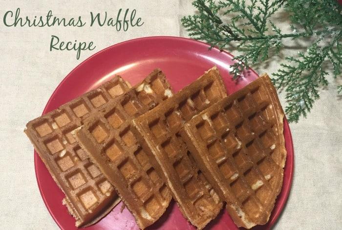 Christmas Waffle Recipe….
