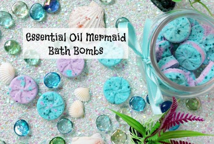 Essential Oil Mermaid Bath Bombs