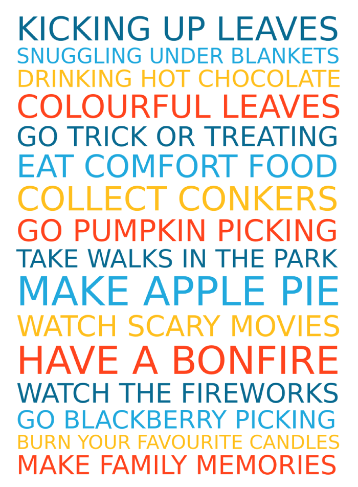 Free personalised Autumn Family Traditions poster