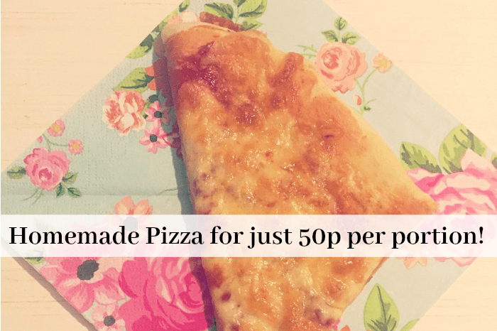 Homemade Pizza for just 50p per portion!
