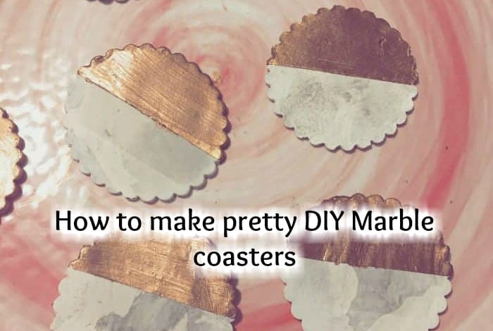 How to make pretty DIY Marble coasters….
