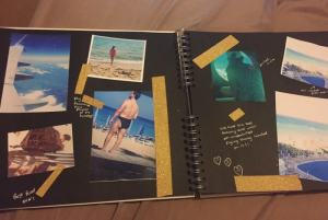 Include lots of photos in your travel journal....