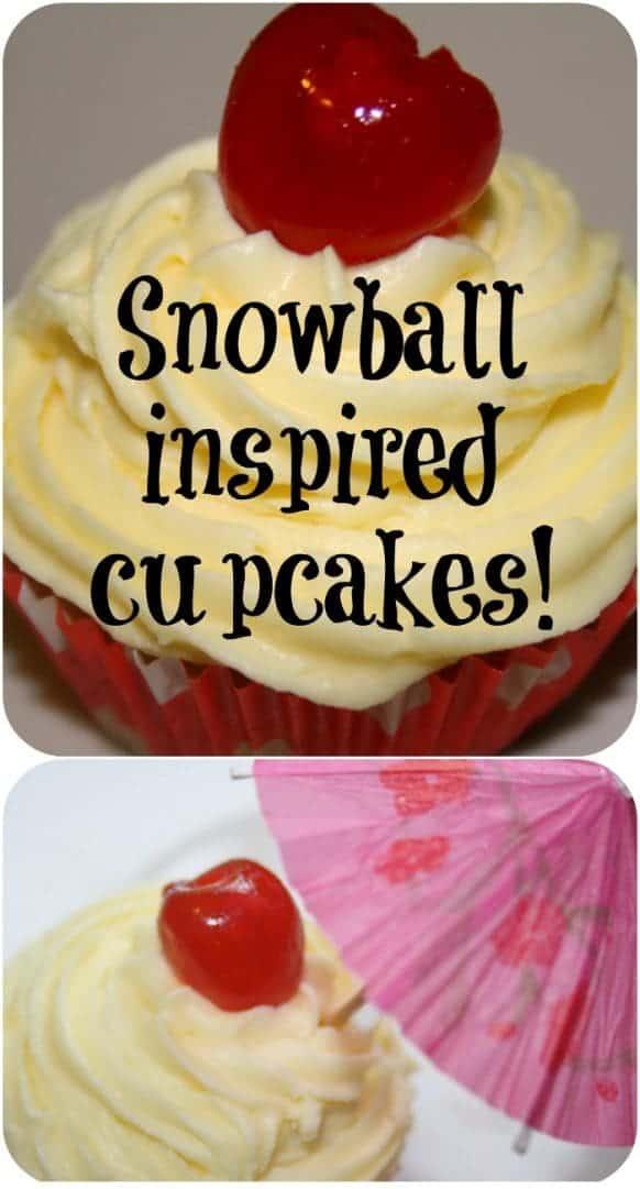 Snowball cupcakes - because it's Christmas and snowballs at Christmas remind me of my Nana....