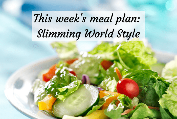 Meal Planning Monday – Slimming World Style….