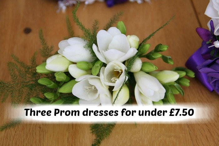 Three Prom dresses for under £7.50….