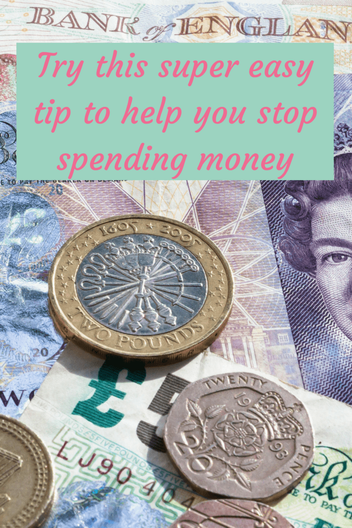 Try this super easy tip to help you stop spending money.