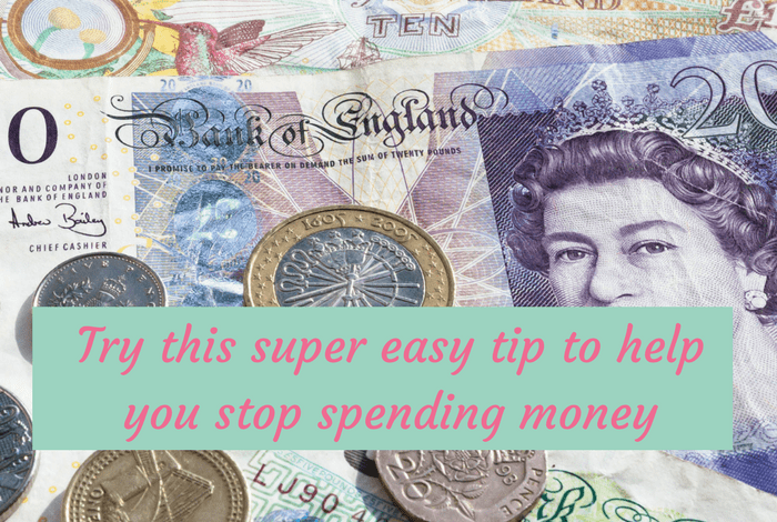 Try this super easy quick tip to help you stop spending money….