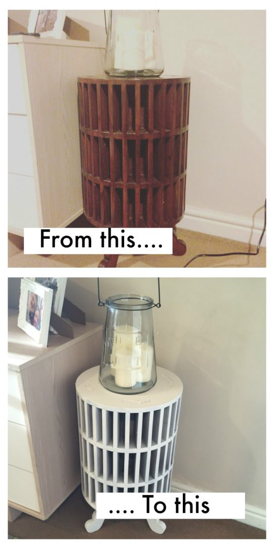 Upcycling my little side table with no preparation.....