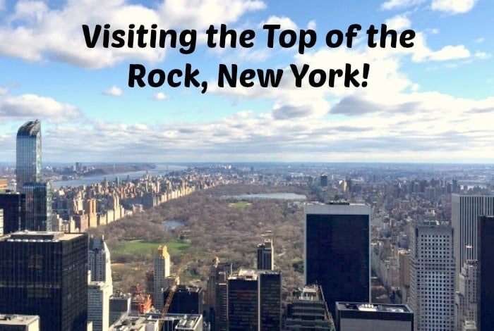 Visiting the Top of the Rock, New York….