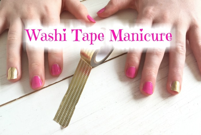 Style on a budget – the one with the washi tape manicure….