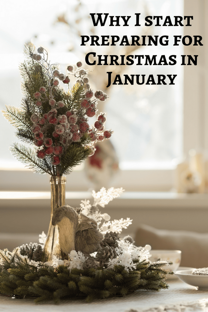 Why I start preparing for Christmas in January. It's an easy way to save money and hopefully have a great family Christmas because you'll be less stressed about it all. #familychristmas #moneysaving