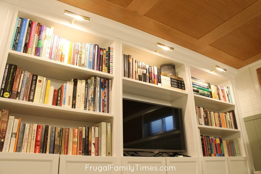 how to add bookcase lighting to any