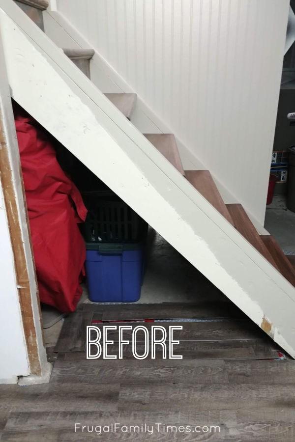Hidden Storage Under Stairs With Modern Diy Basement Railing | Hidden Stairs To Basement | Wine Cellar | Channel Zero | House | Walkout | Too Steep