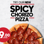 NEWS: Pizza Hut – $9 Spicy Chorizo Pizza