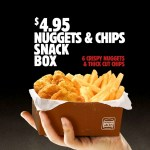 DEAL: Hungry Jack's $4.95 6 Nuggets & Chips Snack Box