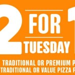 DEAL: Domino's 2 For 1 Tuesdays – Buy One Get One Free Pizzas (20 August 2019)