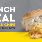 DEAL: Chicken Treat – $5 Chicken Roll & Chips until 5pm
