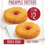 DEAL: Red Rooster – 2 Pineapple Fritters for $2 Delivered (14 December – 25 Days of Christmas)