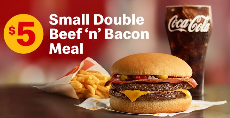 DEAL: McDonald's - $5 Double Beef 'n' Bacon Burger Meal with Small