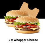 DEAL: Hungry Jack's App – 2 Whopper Cheese for $9.45