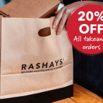 DEAL: Rashays – 20% off All Takeaway Orders