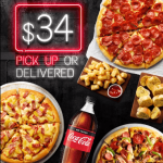 DEAL: Pizza Hut – 3 Large Pizzas + 3 Sides $34 Delivered, Free Garlic Bread with Pizza + More Deals